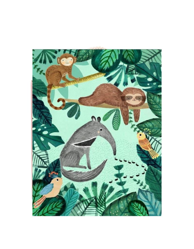 Petit Monkey Affiche - Les animaux de la jungle