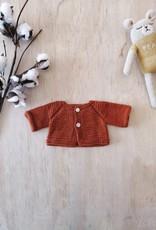 Paola Reina Veste tricotée à la main - Rouille