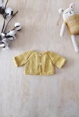 Paola Reina Veste tricotée à la main - Moutarde