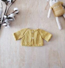 Monamigurumi Veste tricotée à la main - Moutarde