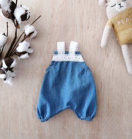 Paola Reina Paola Reina doll  dungaree - Denim and Lace