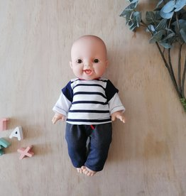 Paola Reina Doll clothes - Blue pants and striped sweater