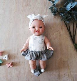 Paola Reina Vêtements de poupée - Robe hérisson, bandeau et chaussons