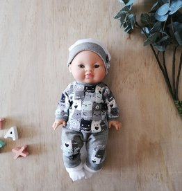 Paola Reina Doll clothes - Bear jersey, pants, slippers and hat