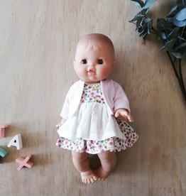 Paola Reina Vêtements de poupée - Robe fleurie rose et veste