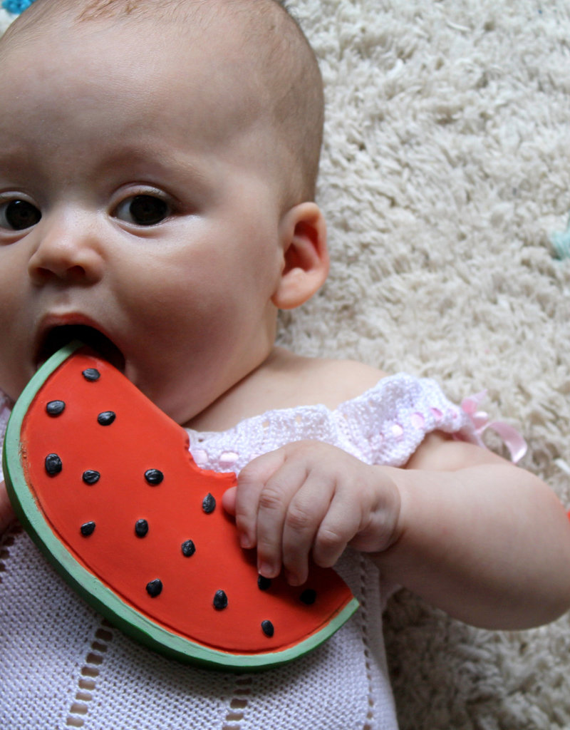 Oli & Carol Natural rubber teether - Wally the watermelon