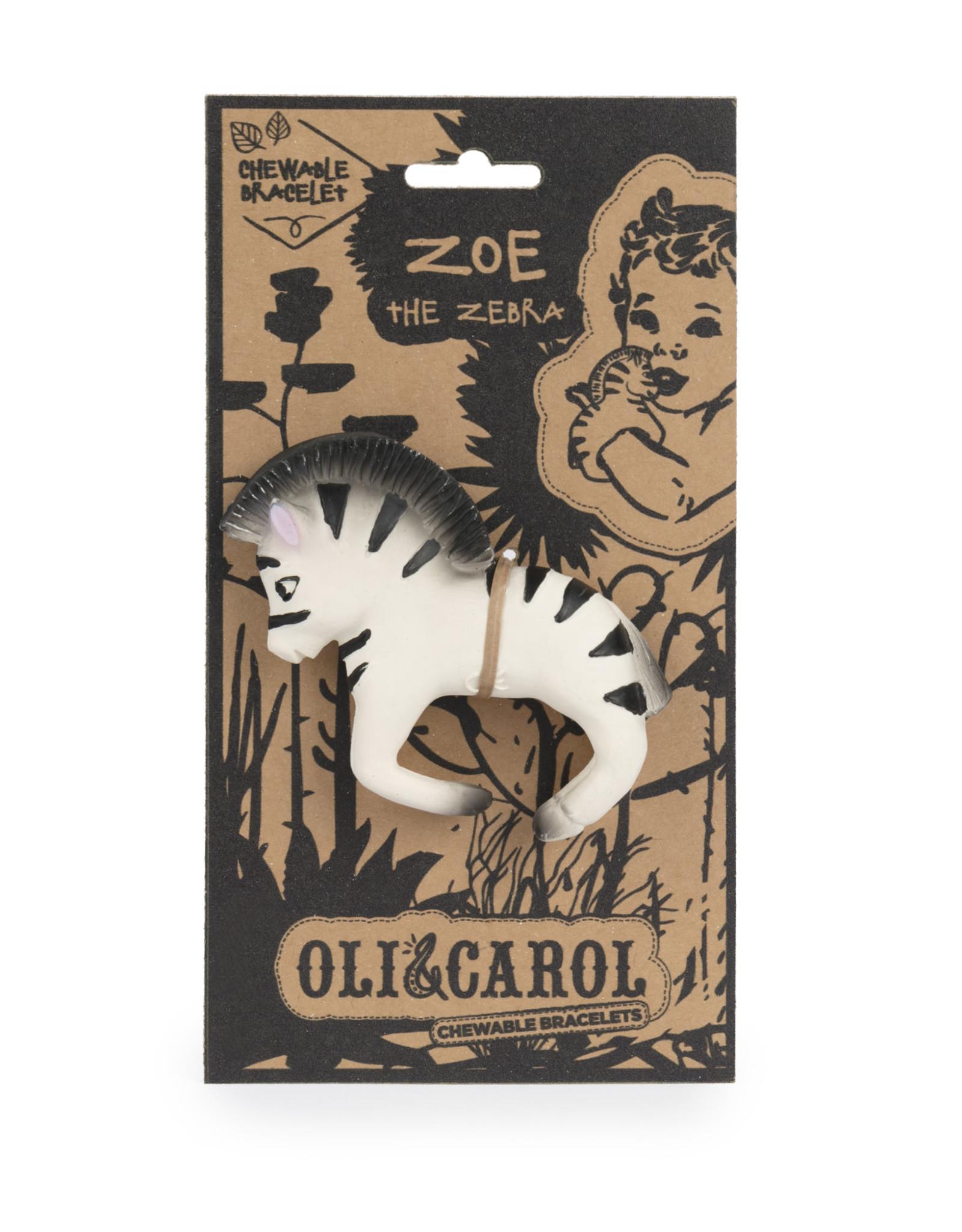 Oli & Carol Chewable Bracelet - Zoe the Zebra