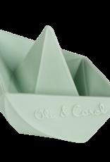 Oli & Carol Natural rubber teether - Origami boat - mint