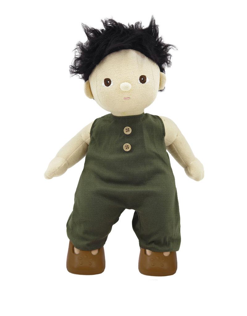 Olli Ella Mini valise de vêtements pour poupée - Moutarde