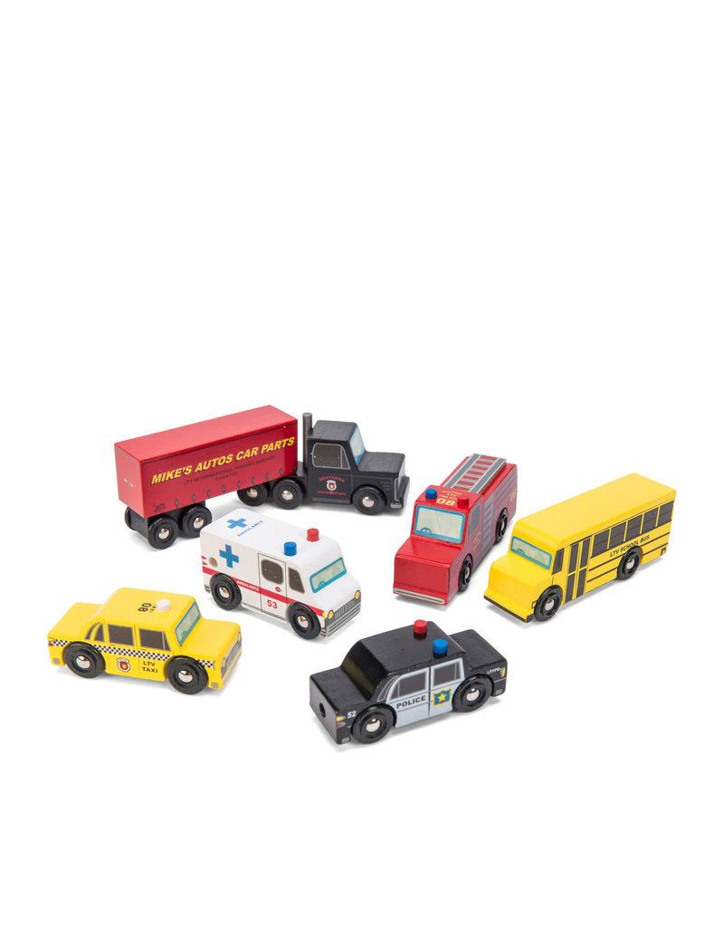 Le Toy Van Ensemble de 6 voitures en bois