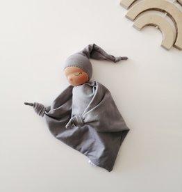 Comfrey & Clary Baby lovey waldorf - Organic bamboo jersey - Grey