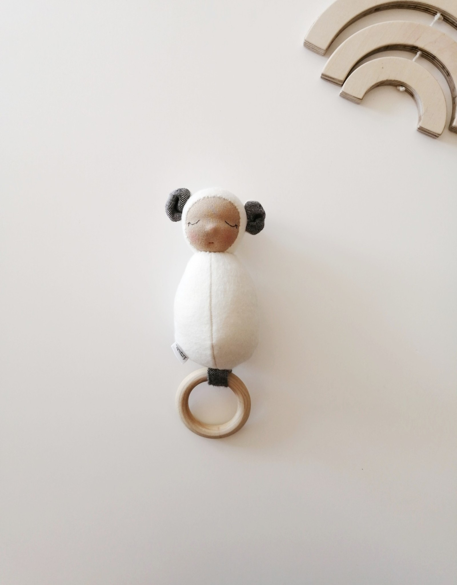 Comfrey & Clary Rattle Baby lovey waldorf - Organic bamboo jersey