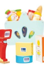 Le Toy Van Panier d'épicerie avec lecteur de code barre