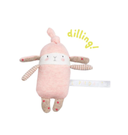 Moulin Roty Lulu the pink rabbit rattle (13 cm)