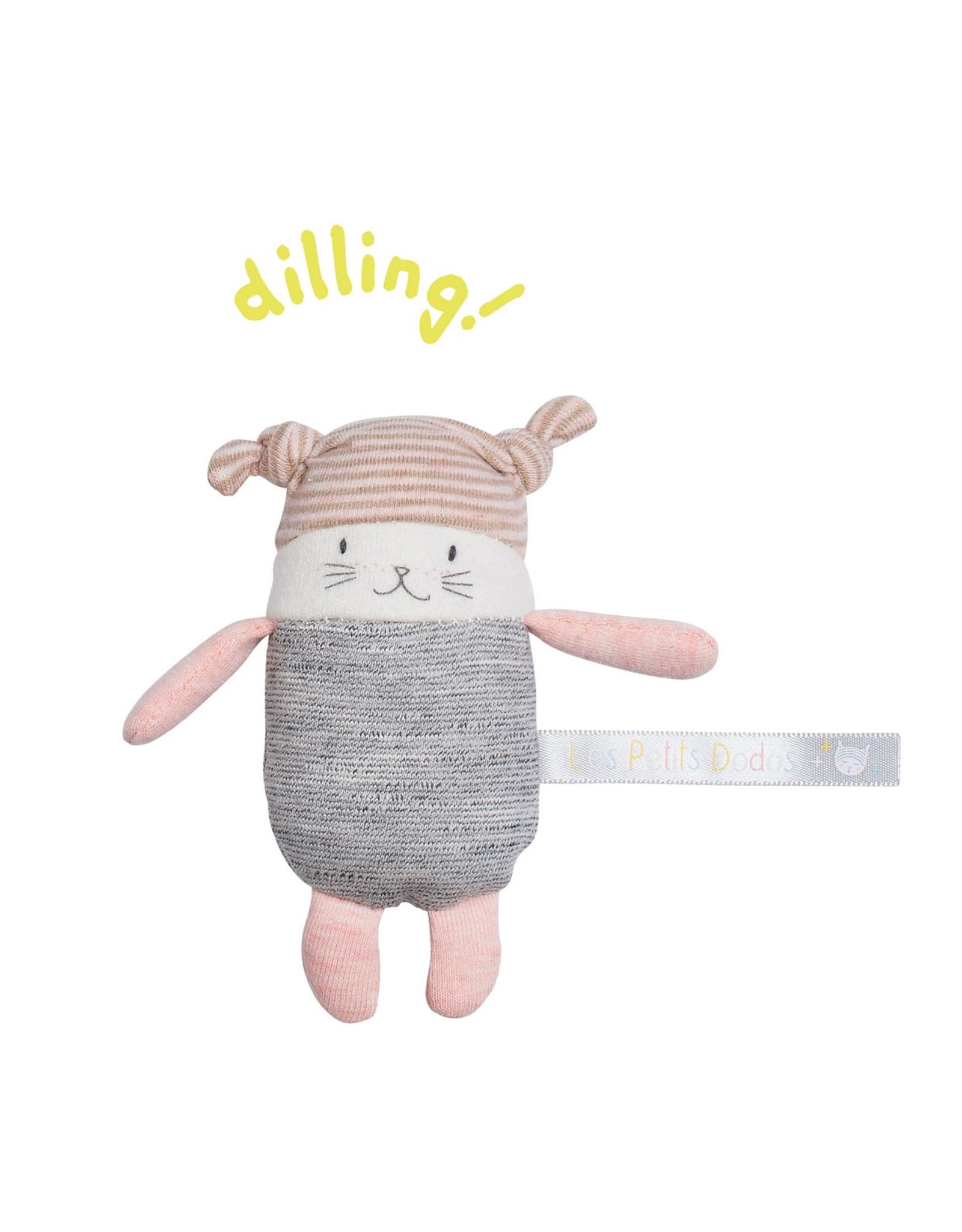 Moulin Roty  lune le petit chat hochet (11cm)