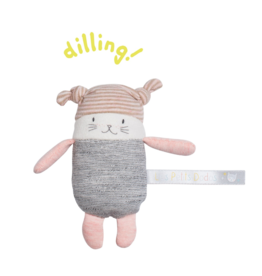 Moulin Roty moon the little cat rattle  (11cm)