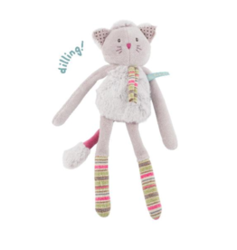 Moulin Roty Les pachats - chat hochet gris