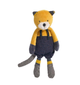 Moulin Roty Moustaches - Lulu yellow cat soft toy