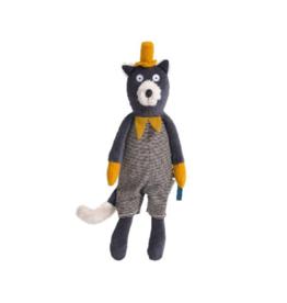 Moulin Roty Moustaches - Alphonse grey cat soft toy