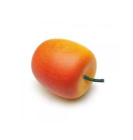 Erzi Pomme rouge et jaune en bois