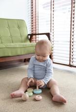 Plan Toys Anneaux en bois empilables - Couleurs pastels