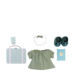 Olli Ella Mini valise de vêtements pour poupée - Menthe