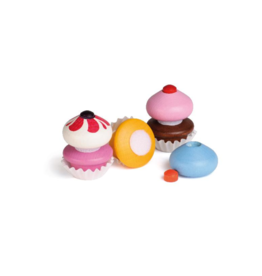 Erzi Petits gâteaux en bois - 3 couleurs