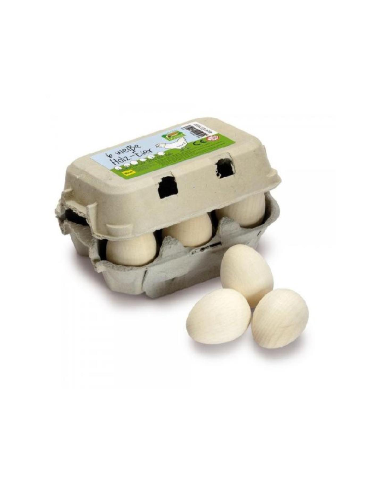 Erzi 6 wooden eggs