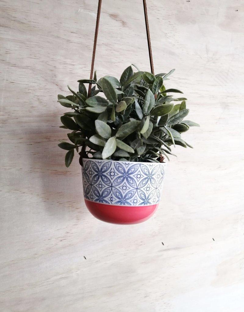 Stéphanie Fauteux - Céramiste Pot à fleur suspendu - Corail