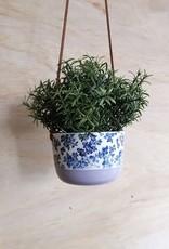 Stéphanie Fauteux - Céramiste Pot à fleur suspendu - Lilas et Fleur