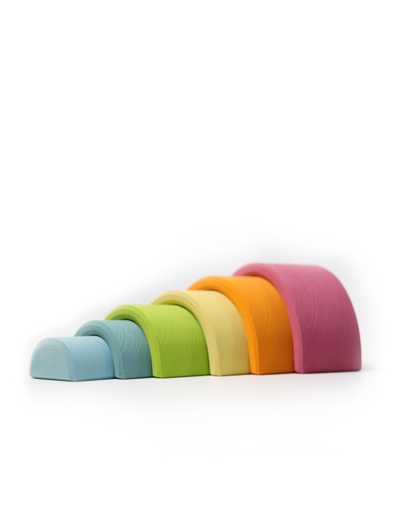 Grimm's Wooden rainbow - medium - Pastel colors
