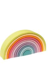 Grimm's Wooden rainbow - large -pastel colors