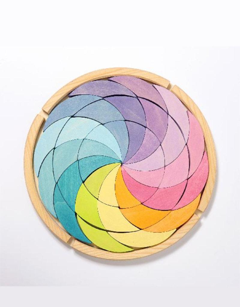 Grimm's Cercle chromatique en bois - Couleur pastel