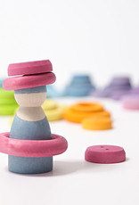 Grimm's Wooden rings - Pastel