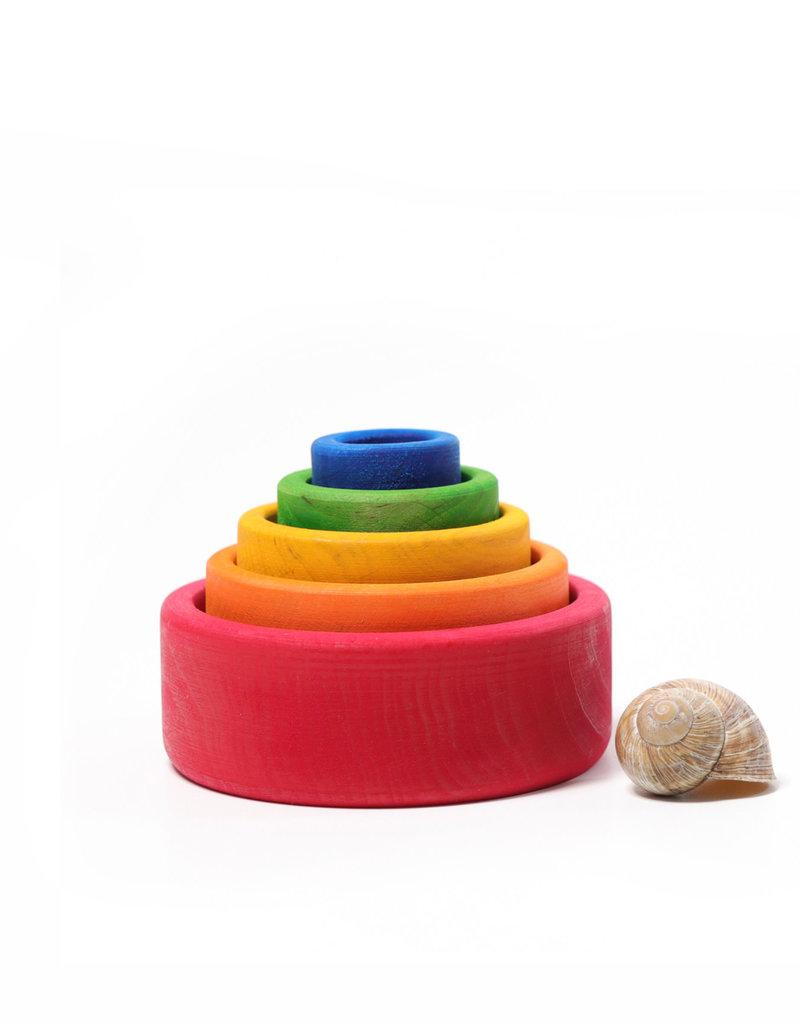 Grimm's Wooden set of bowls - Bright color