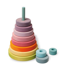 Grimm's Stacking Conical Tower - Pastel