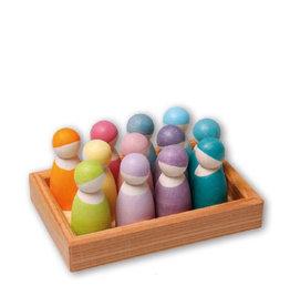 Grimm's Personnages en bois - Couleur pastel