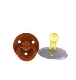 Bibs Pacifier - Rust and Smoke grey
