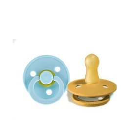Bibs Pacifier - Blue baby and Mustard