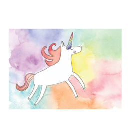 Stéphanie Renière illustration Greeting Card - Watercolor Unicorn