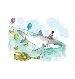 Stéphanie Renière illustration Greeting Card - Birthday Shark