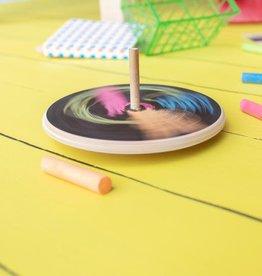 Atelier Rue Tabaga Chalkboard spinning top