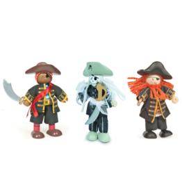 Le Toy Van Ensemble de personnage en bois - 3 Pirates