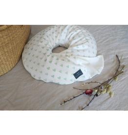 maovic Nursing Pillow - Buckwheat Shells - Hearts
