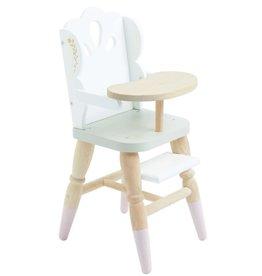 Le Toy Van Chaise haute en bois pour poupée