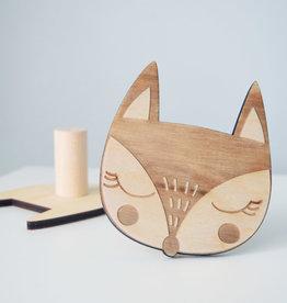 Abricotine Fox wooden hook