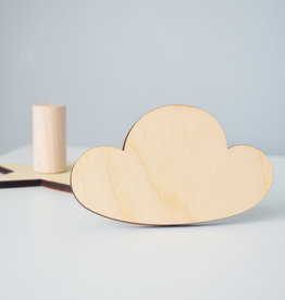 Abricotine Cloud wooden hook