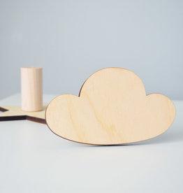 Abricotine Crochet en bois - Nuage
