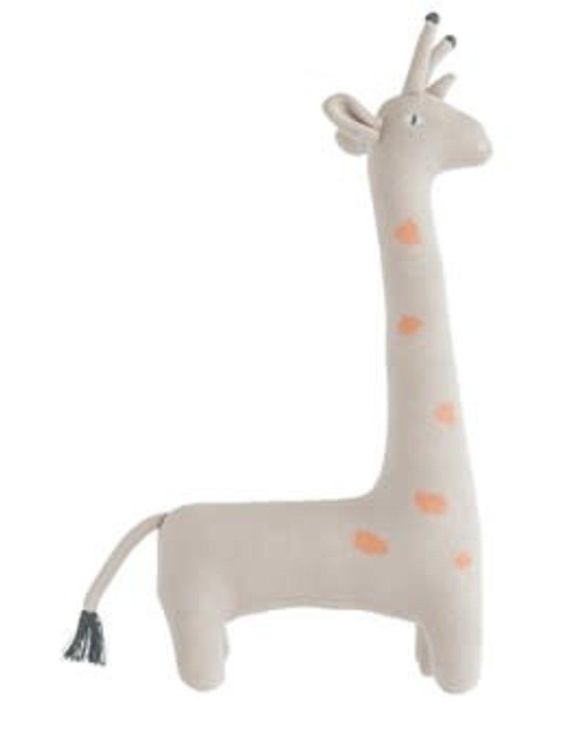 creativeco-op Beige cotton knit giant giraffe