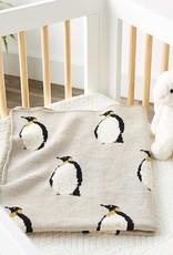 creativeco-op Couverture en tricot - Pingouin